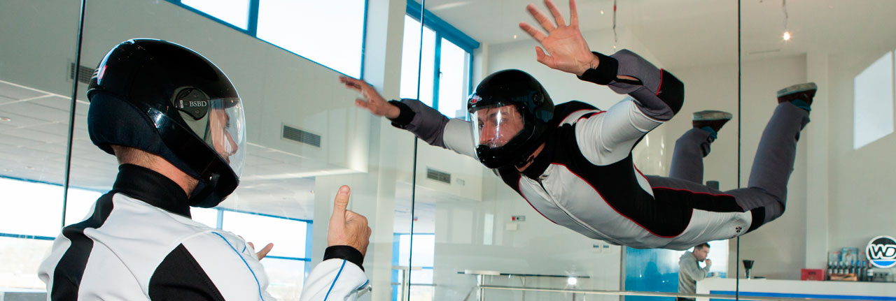FLY AT THE WIND TUNNEL